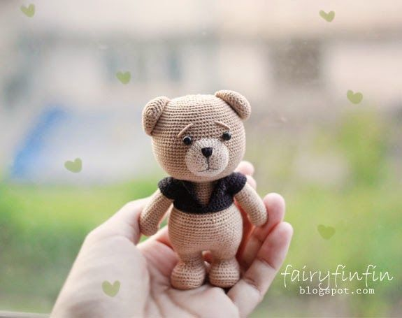 fairyfinfin: Crochet Bear Doll, あみぐるみ, amigurumi, Chochet doll,...