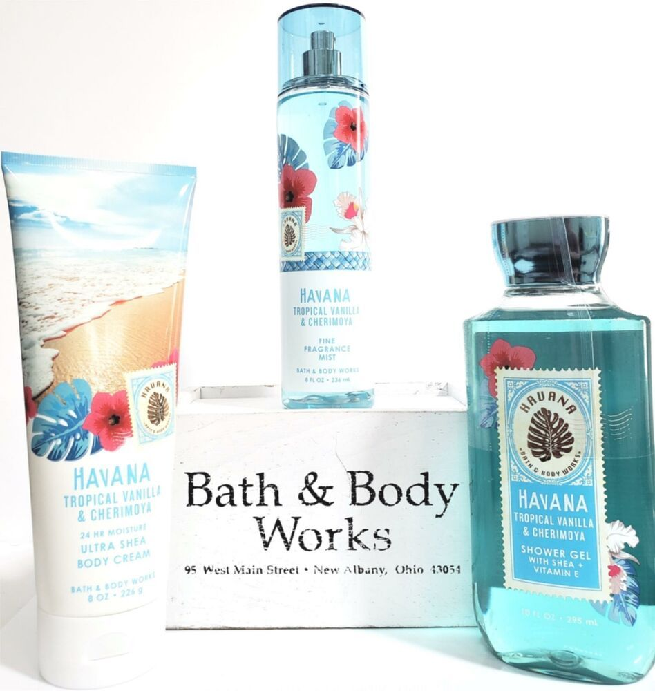 Bath Body Works Havana Tropical Vanilla Chenimoya Lotion Mist