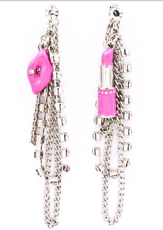 Rockstar Lipstick and Lips Fuchsia earrings from elessajade.com