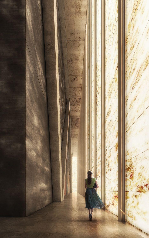 Marmor All Over - REX bauen Theater am World Trade Centre #architektonischepräsentation
