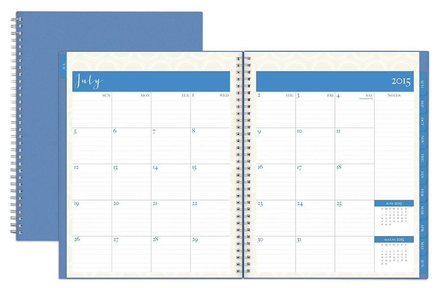 July 2015 - June 2016 Susy Jack Circles Weekly/Monthly Planner 8.5x11