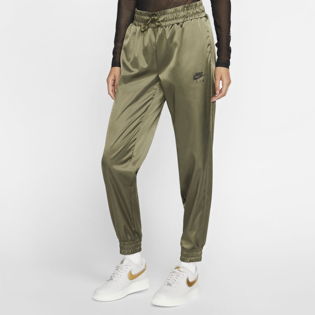 Nike Air Women's Satin Track Pants (Medium Olive) | Nike
