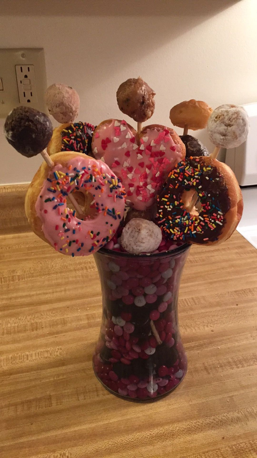 Nothing Says Happy Valentines Day Like A Donut Bouquet To Shawn