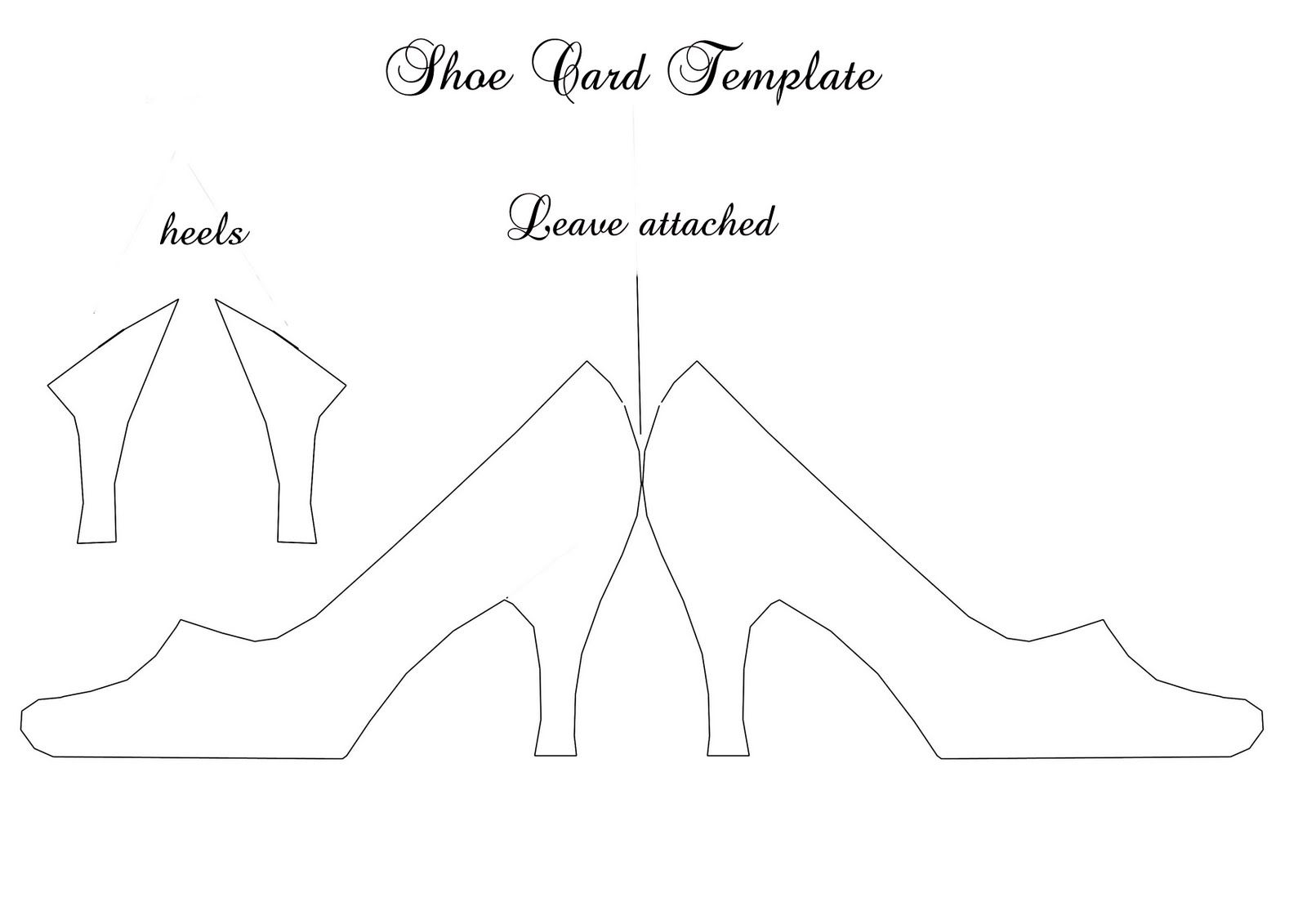 Posted By Cher S Cards At 03 50 2comments Shoe Template Free Applique Patterns Paper Shoes
