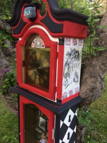 One-of-a-kind Custom Alice in Wonderland Grandfather Clock | art, collectibles | Calgary | Kijiji