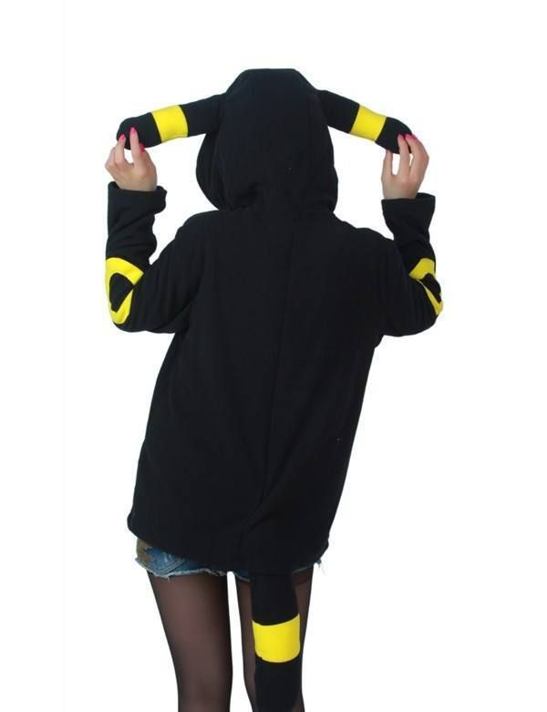 Pokemon Umbreon Hoody with Ears & Tails | Costumes | Pinterest