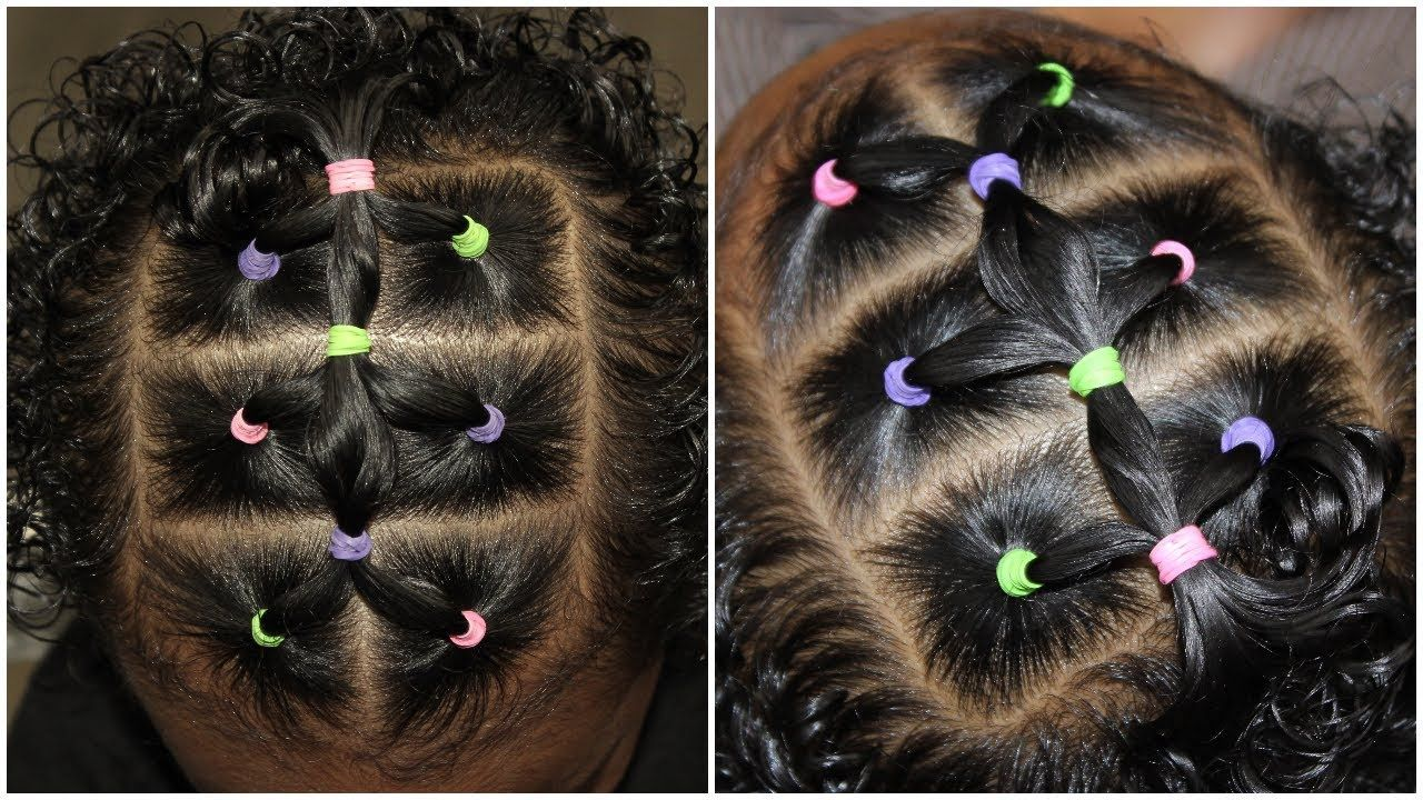 Easy 10 Minute Elastic Hairstyle Cute Hairstyles For Toddlers
