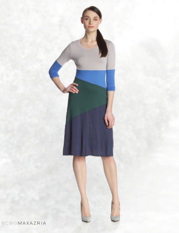BCBGMAXAZRIA Women's Corina Color-Block Dress