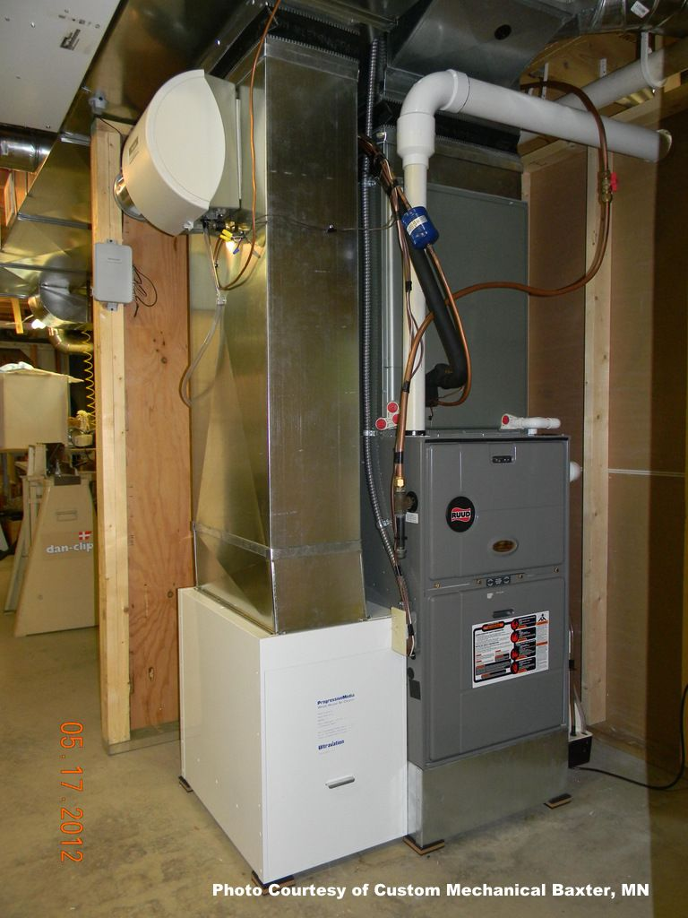 Almost A Work Of Art This Uncluttered Furnace Installation By