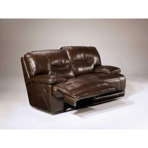 Ultra Plush Leather Power Reclining Loveseat By Ashley Furniture.