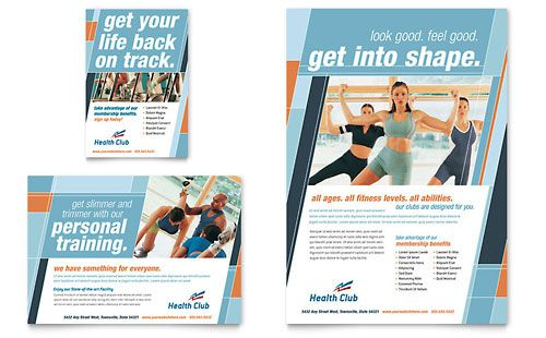health and fitness flyer templates fitness guide pinterest