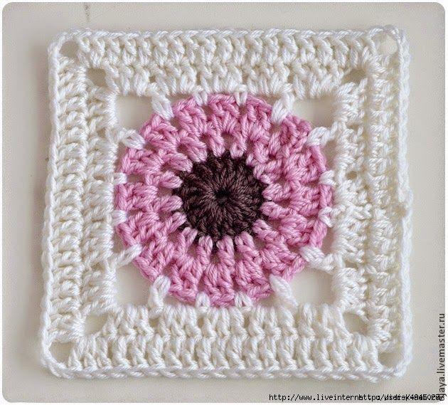 Un square para principiantes con patrón | Granny Square Diagram ...