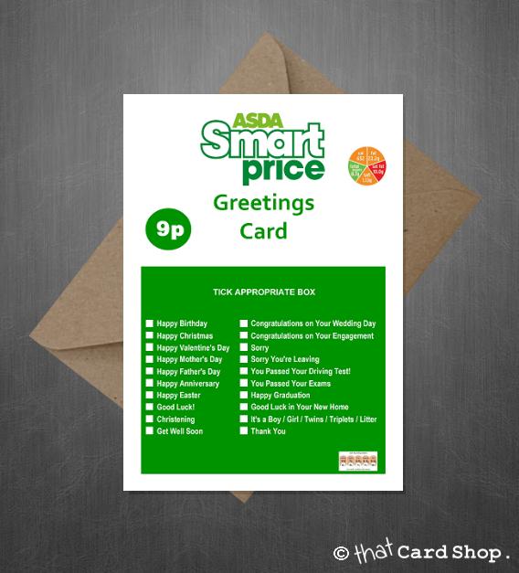 Asda smart price funny joke greetings card for literally any asda smart price funny joke greetings card for literally any occasion m4hsunfo