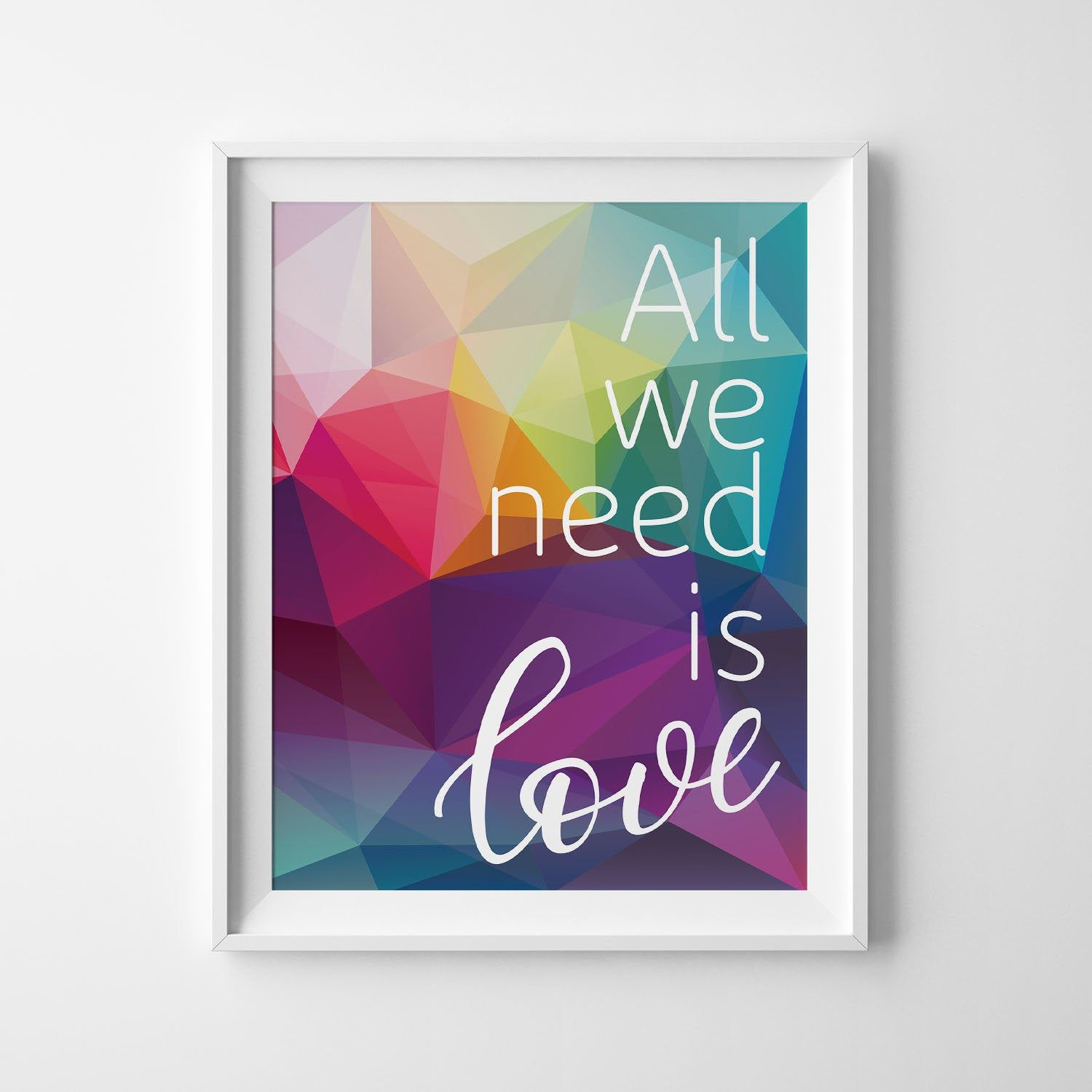 Bedroom Wall Decor Living Room Wall Art Girls Bedroom Music Poster All We Need Is Love Beatles Wedding Decor Boyfriend Gift Dining Room Bedroom Wall Living Room Decor Unique Wall Art