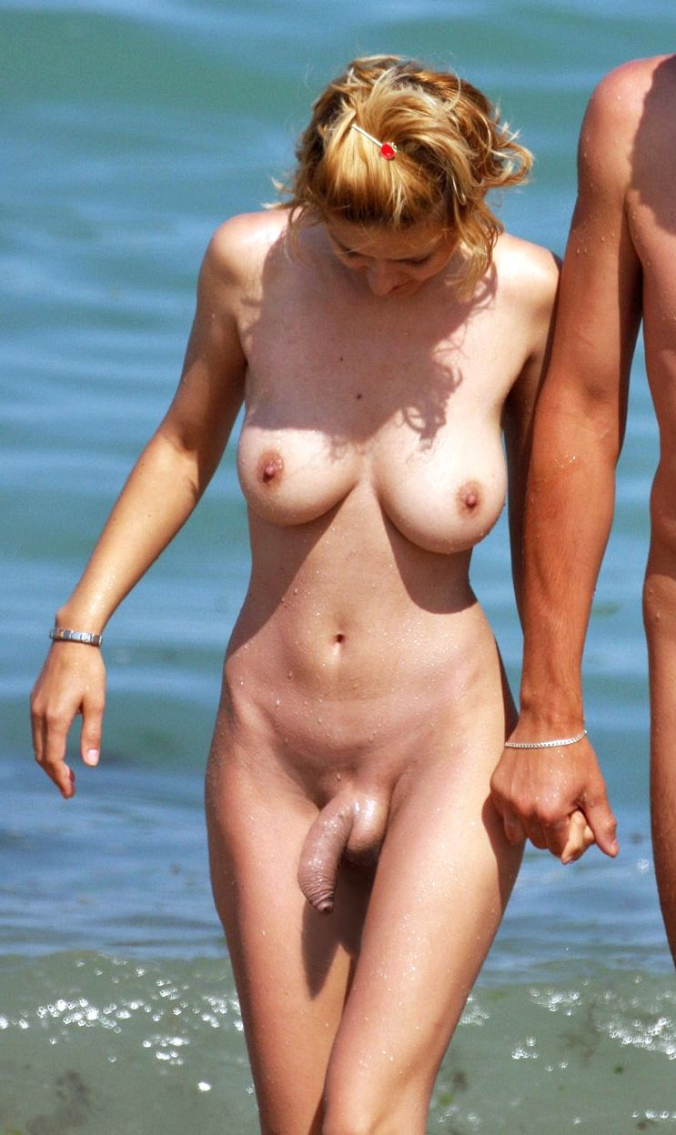 As Im Nude Walk On The Beach With My Boy-Friend -6708