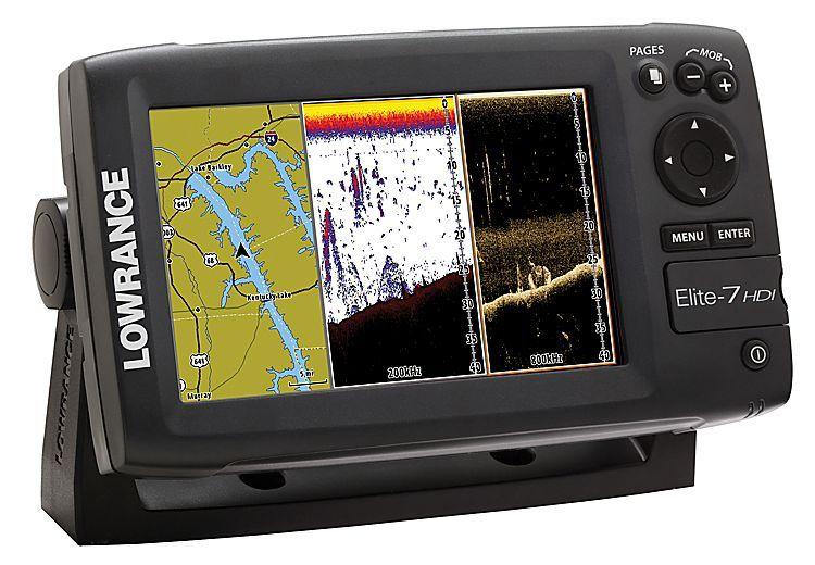 Lowrance® Elite7 Hybrid Dual Imaging™ Fishfinder