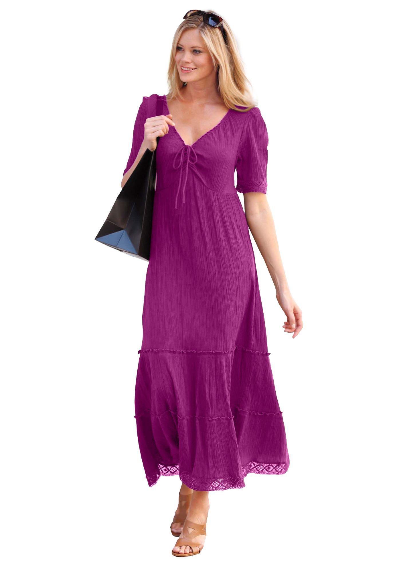 Cool gauze dress by ellos plus size maxi dresses woman within