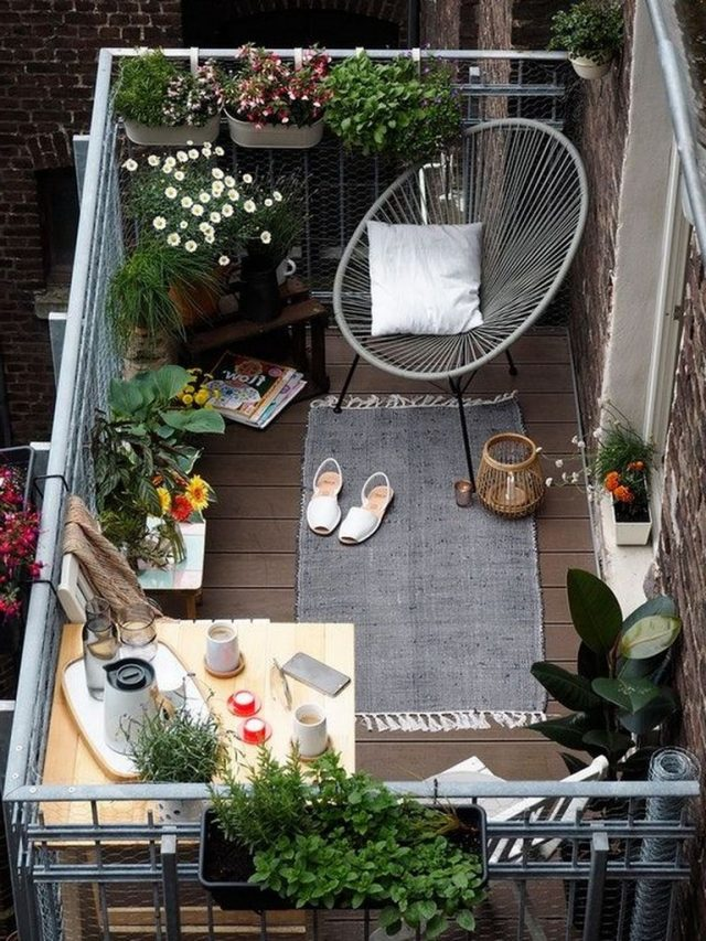 Photo of 40+ Interesting Balcony Apartment Decorating Ideas For The New Year 2019