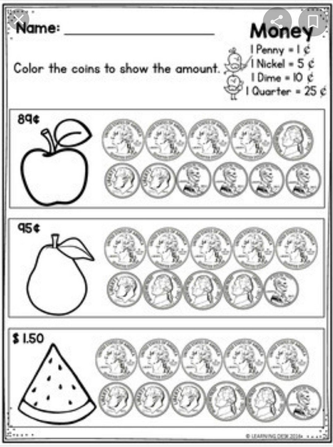 Pin By Jan Tanega On Math Worksheets In 2020 Money Worksheets Counting Money Worksheets Counting Coins Worksheet