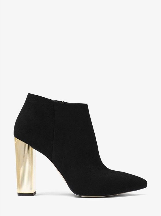10db0812b MICHAEL MICHAEL KORS Paloma Suede Bootie. Rendered in supple suede, MK Paloma  booties are a thoughtful alternative to a wardrobe essential. This pointed- toe ...