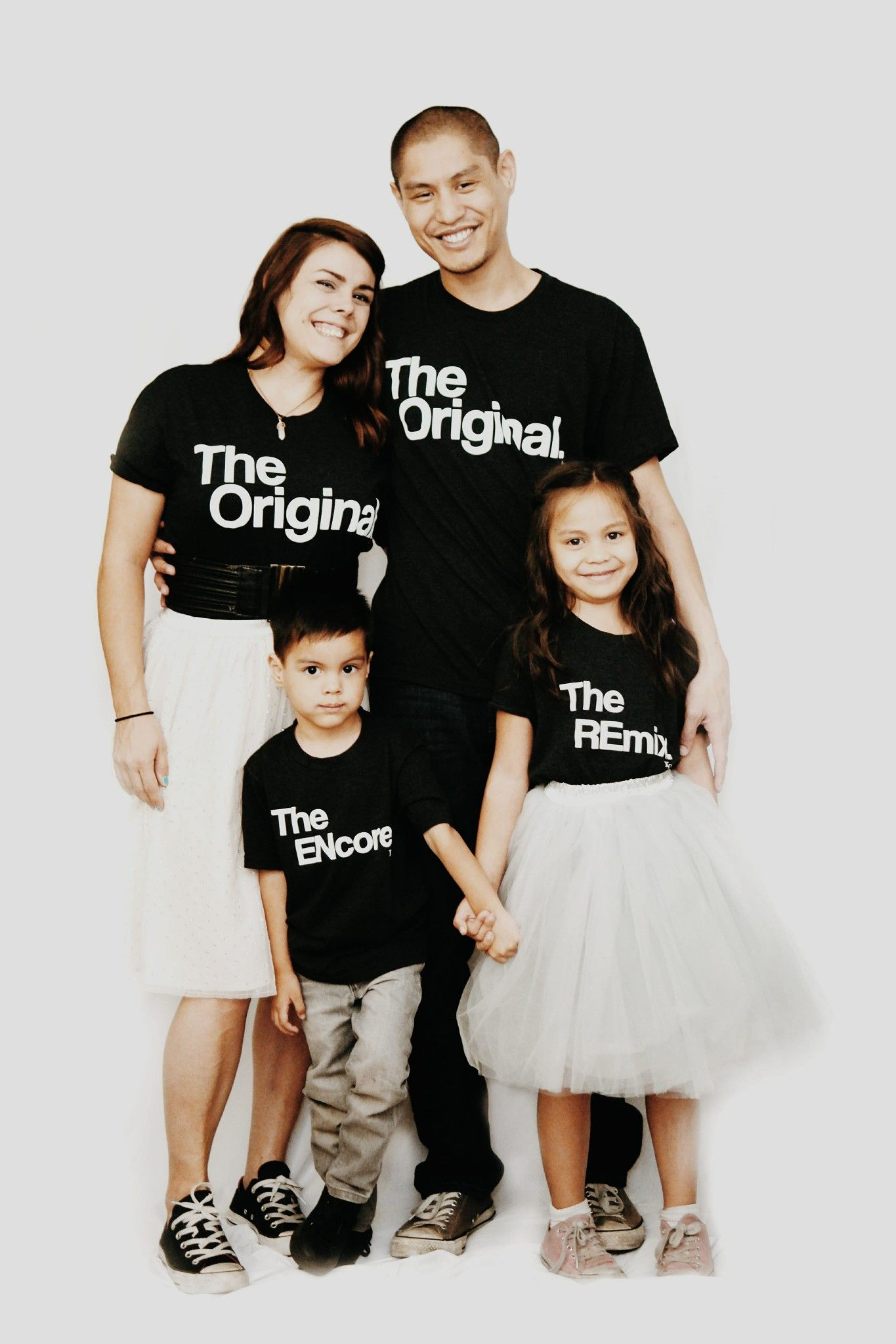 74469fe1 Matching Family Shirts: The Original, The Encore, The Remix. Family Photo