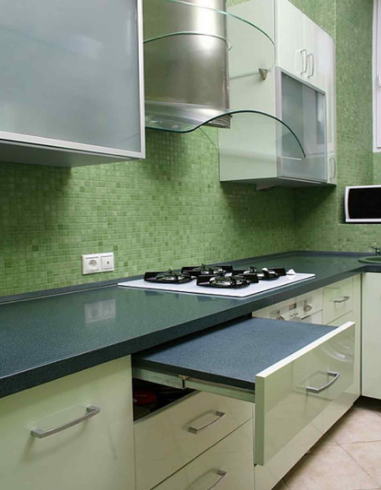 Best Modern Kitchen In Green Color Inspirations Fascinating 400 x 300