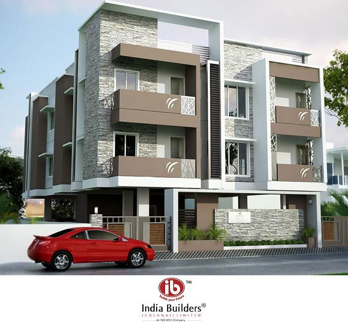 Indian residential building designs indian builders for Design of building house