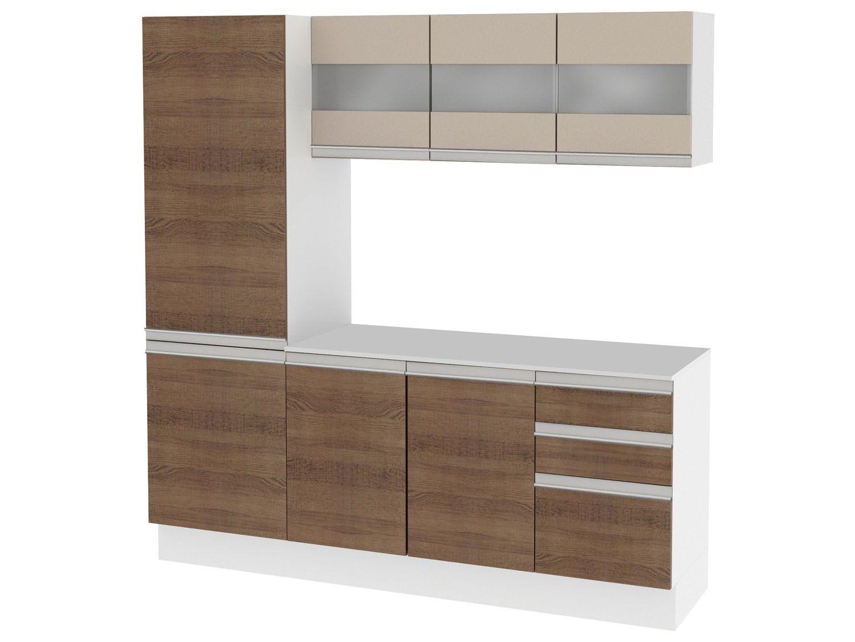 Cozinha Compacta Madesa Smart Com Balc O 8 Portas 2 Gavetas 100