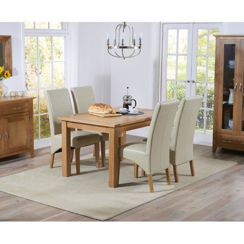 Ophelia Co Extendable Dining Set With 4 Chairs Oak Dining