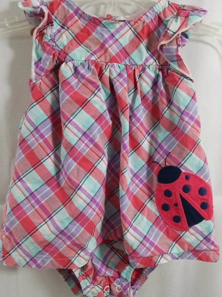 3fed83e00602 Carters Dress Blue Red Plaid White Snap Up Party Holiday Toddler Size 18  Months #JustOneYou