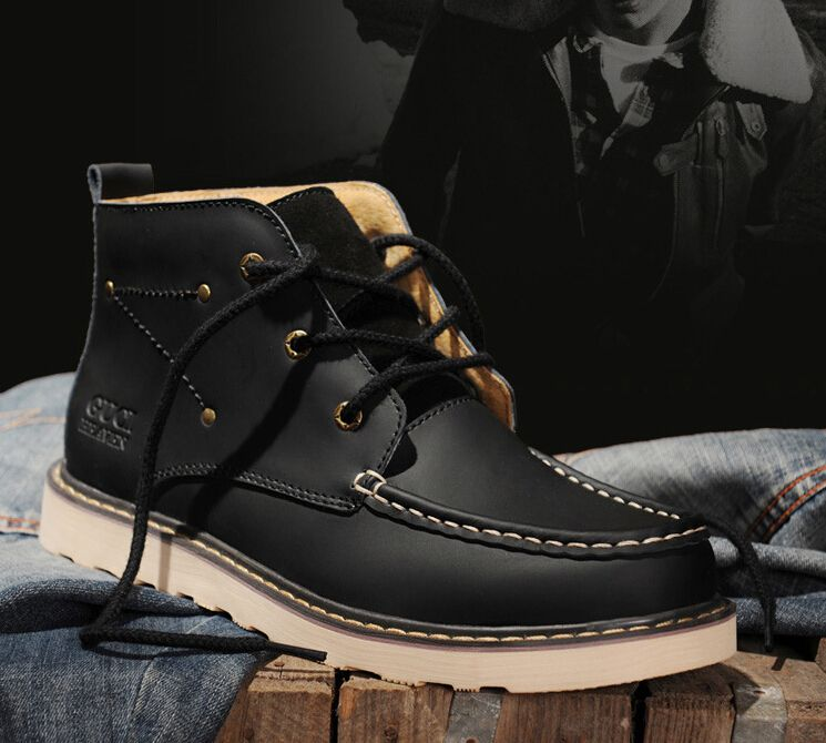 New-2015-Men-Boots-Fashion-Genuine-Leather-Boots-Men-Outdoor ...