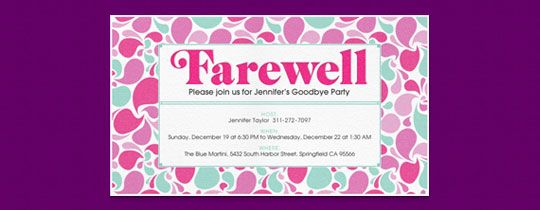 Farewell party invitations fieldstation farewell party invitations stopboris Choice Image