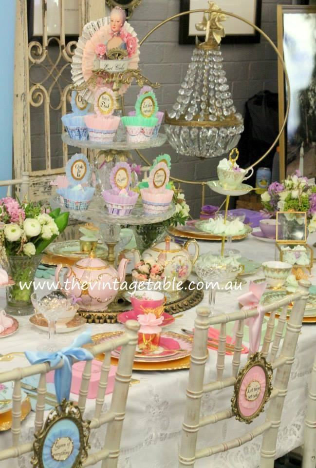Marie Antoinette High Tea Party The Vintage Table Perth
