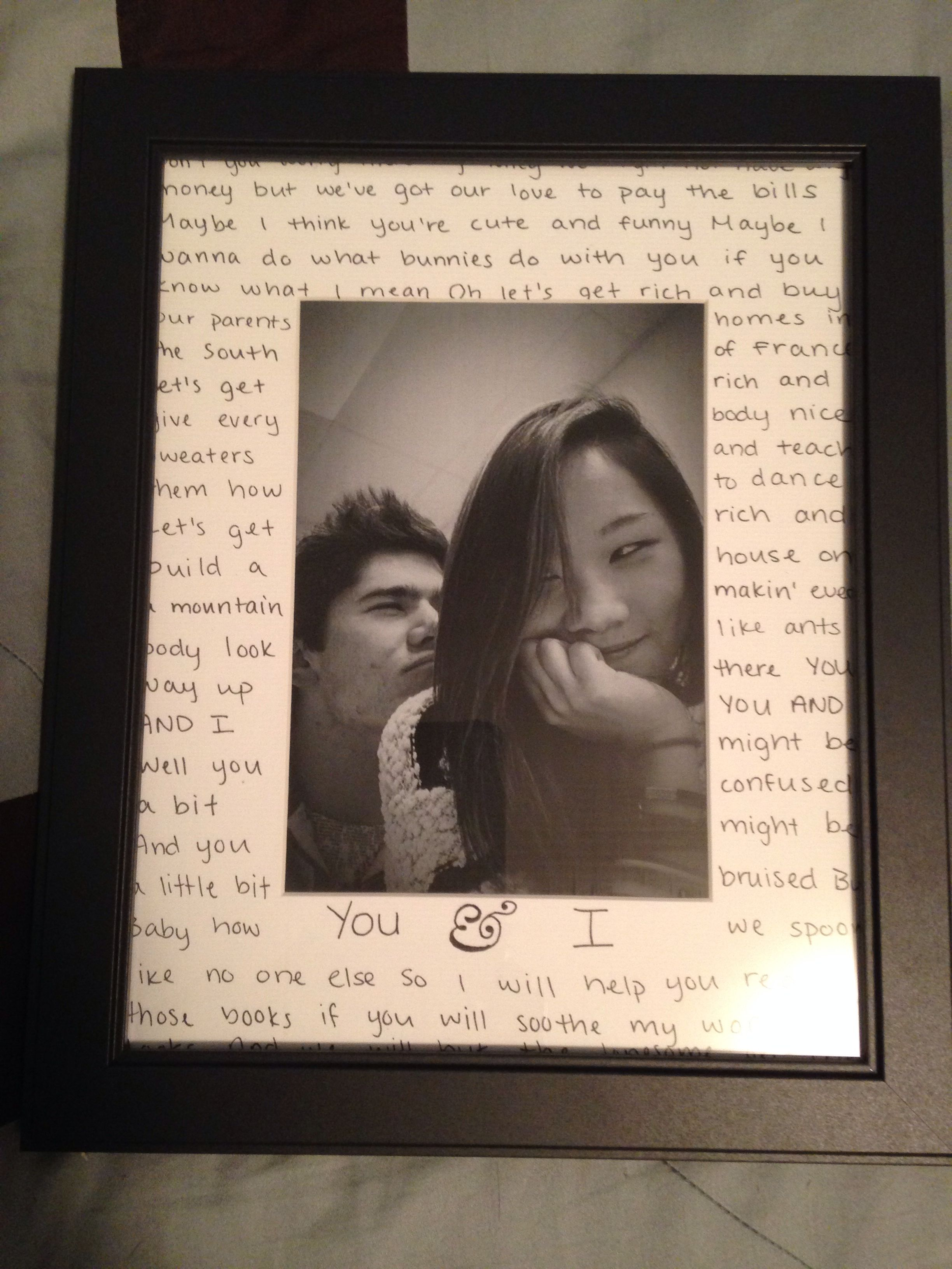 For My Boyfriend On His Birthday It S Just A Nice Simple Frame