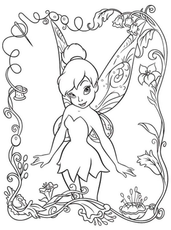 Beautifull Tinkerbell Coloring Pages  Body Art  Pinterest