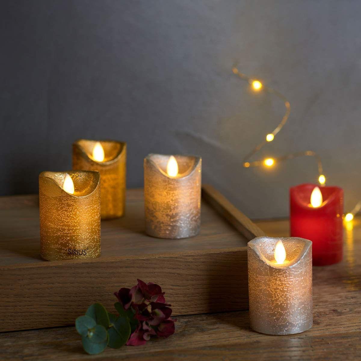 Led Kerze Sara Von Sirius Silber Led Kerzen Led Und Kerzen