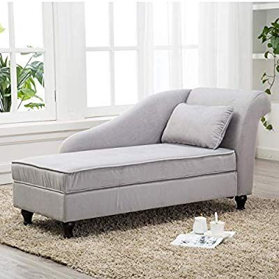 Amazon Com Chaise Lounge Sofa Couch Storage Upholstered For Living Room Bedroom Gray Kitchen Dining In 2020 Buy Chaise Lounge Modern Chaise Lounge Couch Storage