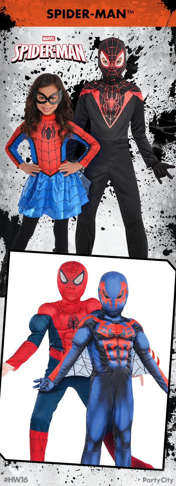 get your spider-man costumes for the whole family from party city