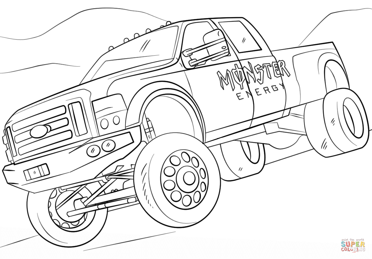 Monster Energy Monster Truck Coloring Page Png 1 186 824 Pixels Monster Truck Coloring Pages Truck Coloring Pages Coloring Pages