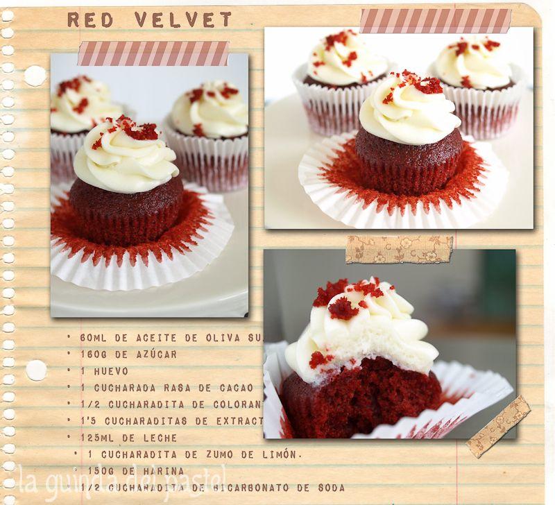 red velvet cupcakes receta