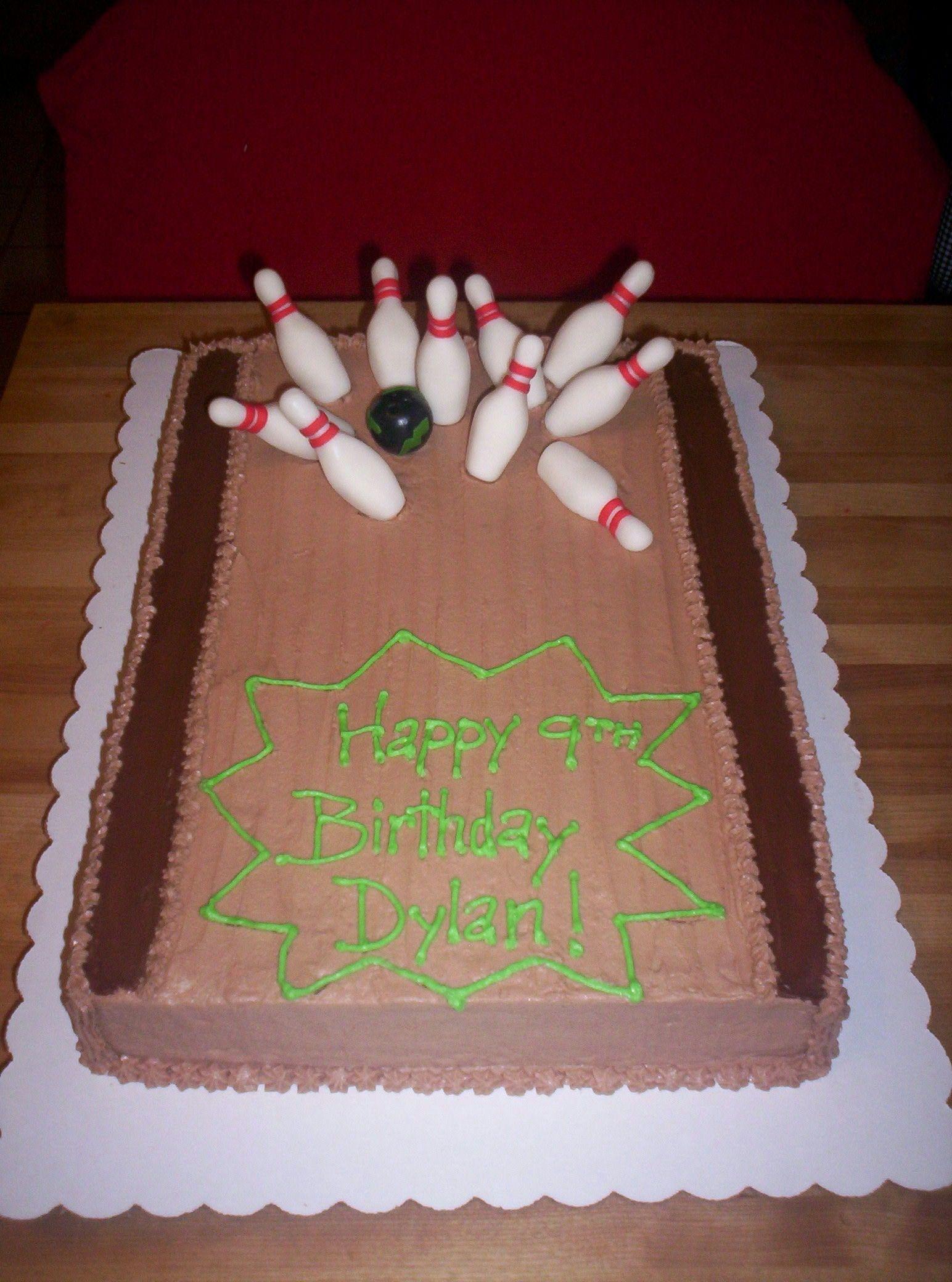 Bowling birthday cake ideas cupcakes