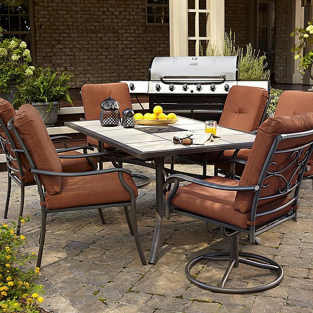 Jaclyn Smith Today Clermont Dining Table Outdoor Living Patio Furniture Tables Side