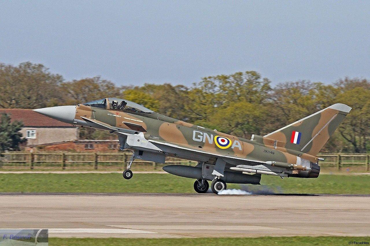 RAF Eurofighter Typhoon ZK349  Tyfie of 29 Sqdn decorated to