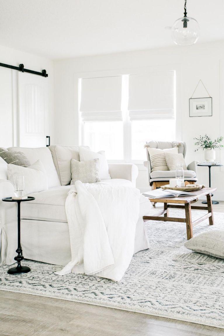 6 Bright White Paint Colors With Minimal Undertones Hello Lovely White Living Room Living Room White Living Decor