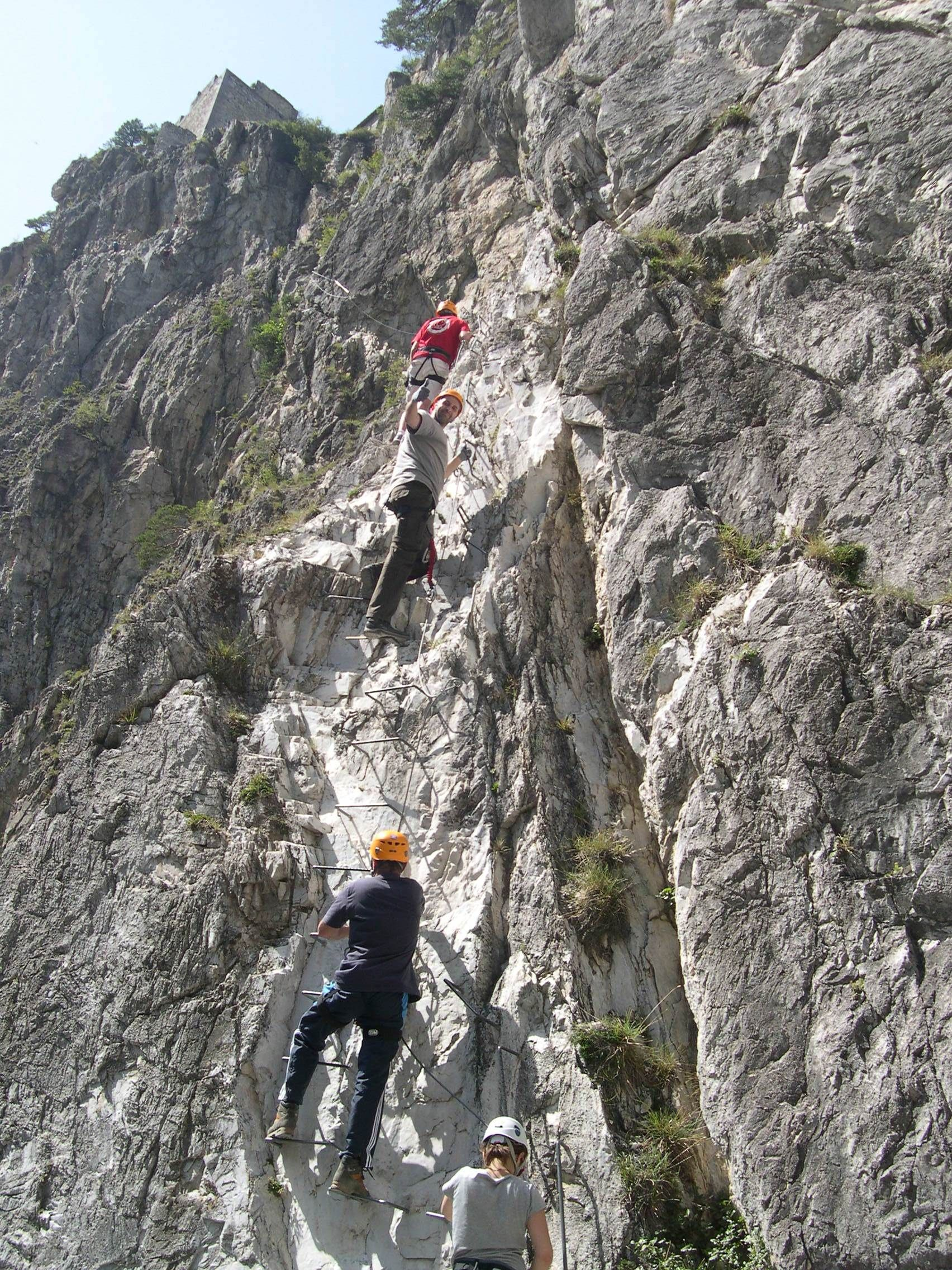 La via ferrata du Diable à #Aussois - La Montée au Ciel - #Rhone-Alpes