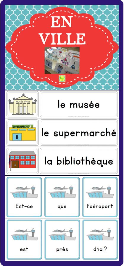 en ville a pack of french resources to help you teach vocabulary related to places in the city. Black Bedroom Furniture Sets. Home Design Ideas