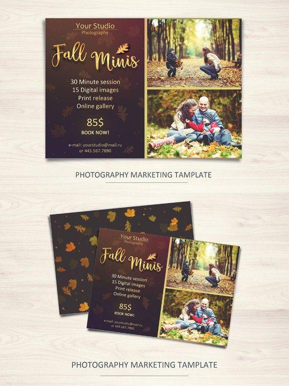 Fall Minis Marketing Board Template Flyer Templates Pinterest