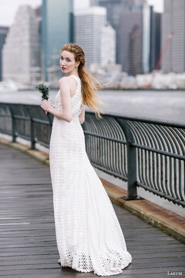 Wedding Dress pinned by EV Lovely Expressions on Pinterest featuring  lakum spring 2016 leanne sleeveless wedding dress back  Lakum Spring 2016 Wedding Dresses