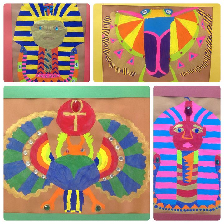 Scarabs & Mask Paintings