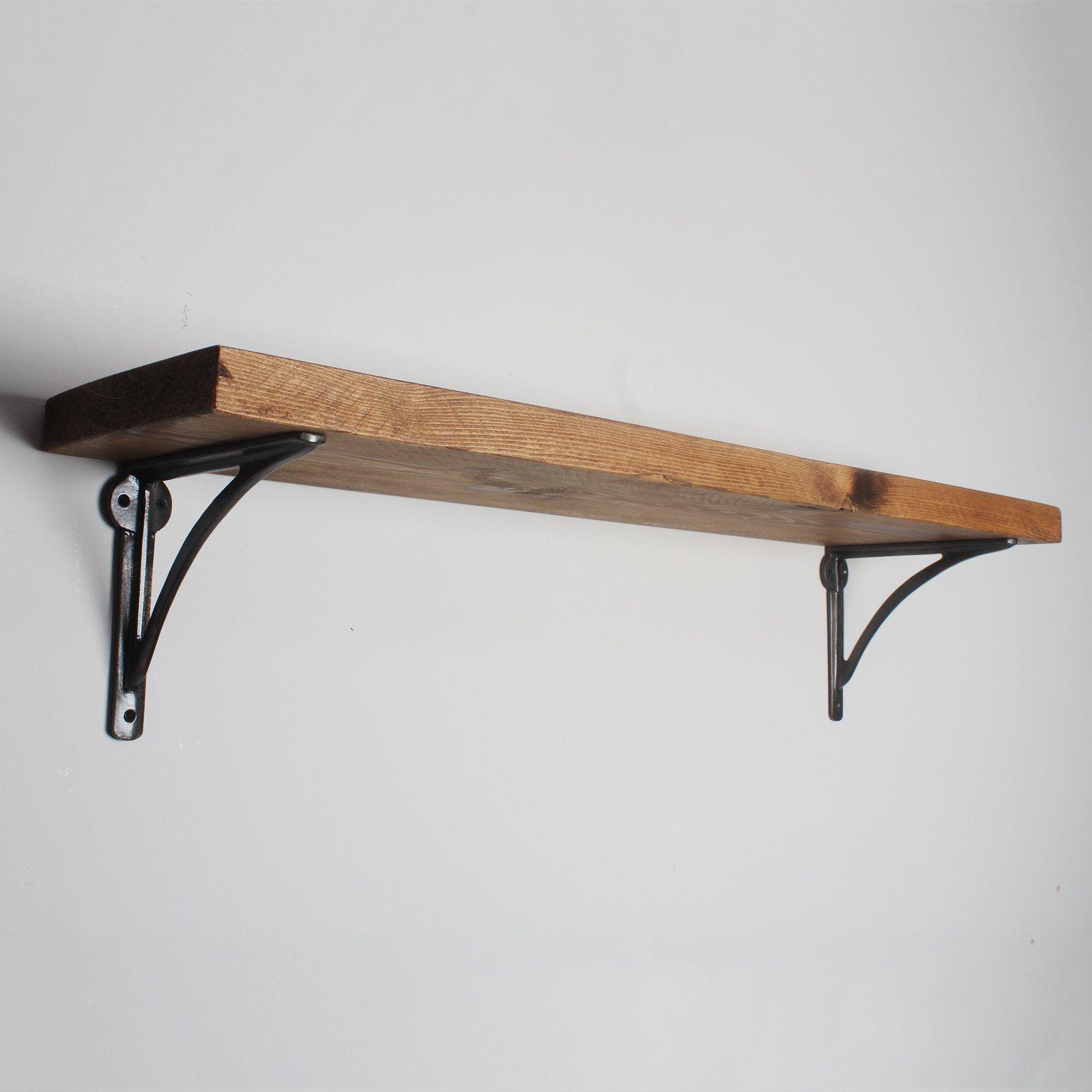 Made in UK. Heavy duty brackets included Industrial//Urban Scaffold Board Shelf